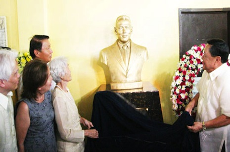 Gov. Espino Unveils Bust Monument of Don Verzosa at LDH
