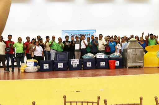 TURNOVER OF FISHERY AND LIVELIHOOD PROJECTS