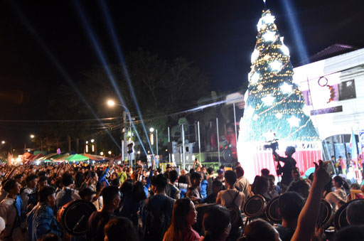 GIANT CHRISTMAS TREE FOR FIESTA