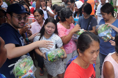 RELIEF GOODS FOR FLOOD VICTIMS