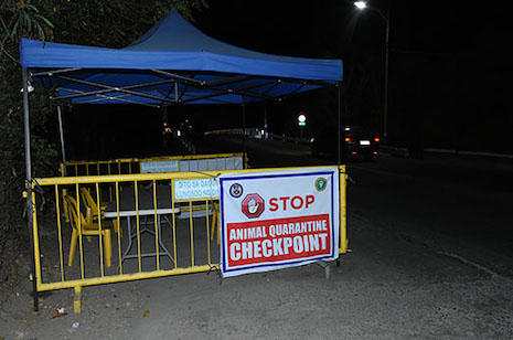 UNMANNED QUARANTINE CHECKPOINT