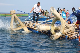 CONCRETE ARTIFICIAL REEF PROJECT LAUNCHED IN AGNO