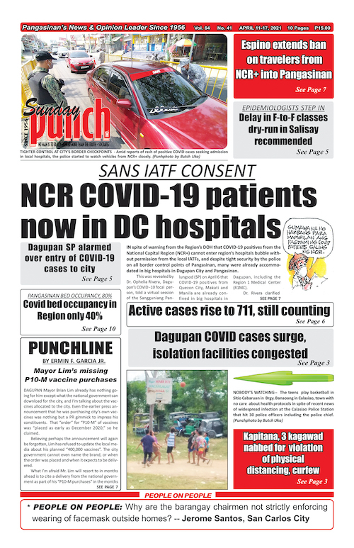SP Front page April 11, 2011 issue